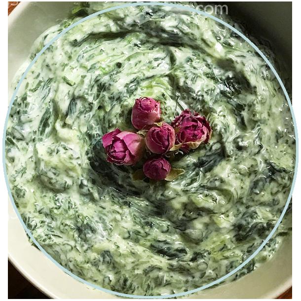 ماست بورانی اسفناج | Spinach Yogurt