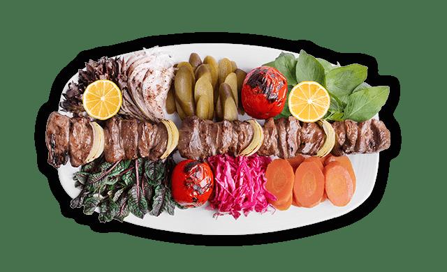 کباب بره | Bulgarian barbecue (sheep fillet)