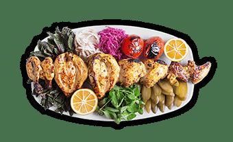 جوجه کباب ارگانیک | organic chicken kebab
