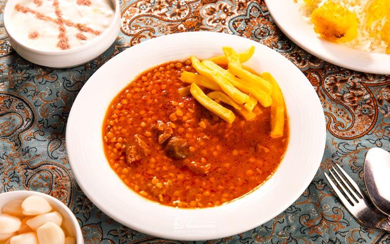بهترین قیمه بادمجان تهران در ارکیده
