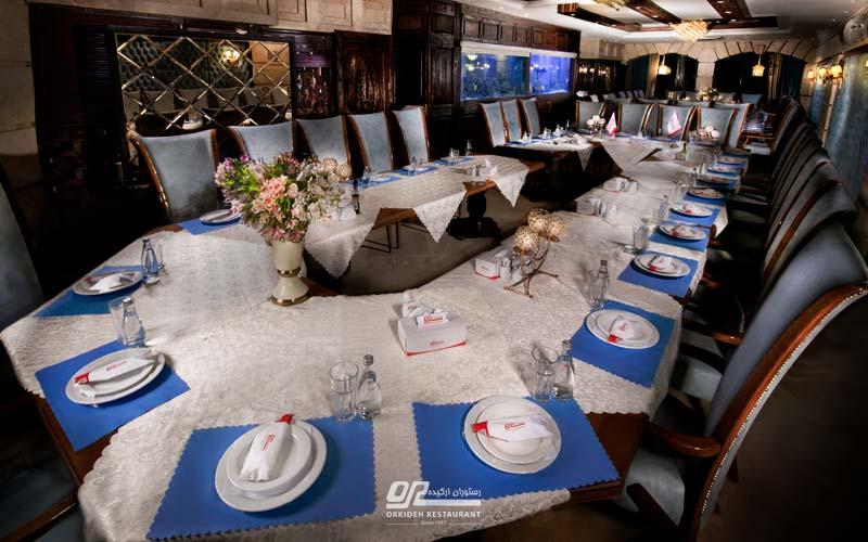 برگزاری جلسه در رستوران